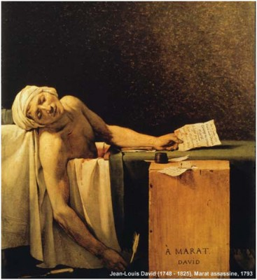 Com crédito - Jean-Louis David (1748 - 1825) Marat assassine. 1793 copy